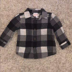 Black plaid flannel
